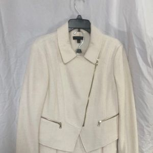NWT boiled wool suit - moto jacket+pencil skirt